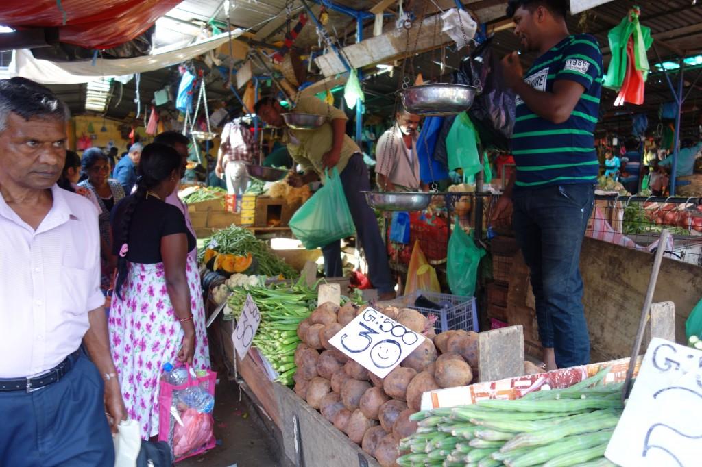 スリランカのマーケット